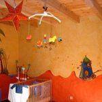 Peinture sur les murs d'une chambre d'enfant (les dunes étaient préexistantes )